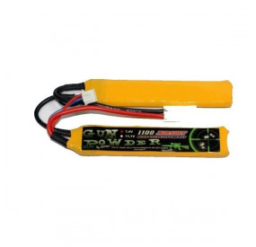 Batterie 7.4V 1100MAH li-po 2 sticks gun powder