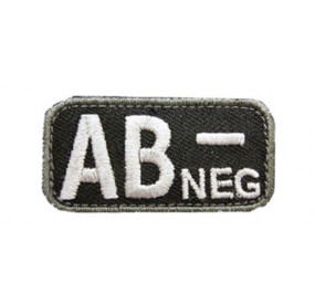 Patch groupe sanguin AB- noir