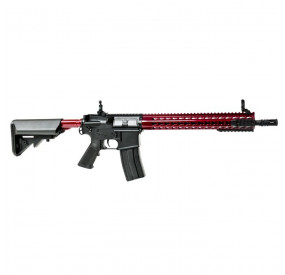 Colt M4A1 full metal long keymod UPSILON rouge