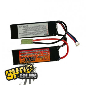 Batterie LIPO 7.4V 20C 1500MAH 2 STICKS