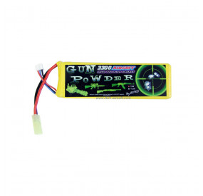 BATTERIE 7.4V 3300MAH LI-PO GUN POWDER