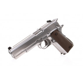 1911 Double Barrel Chrome GBB