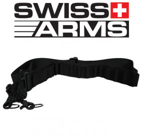 Sangle Cartouchière Noir Swiss Arms