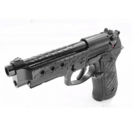 WE M92 Hexcut Blowback Fullmetal Gaz noir