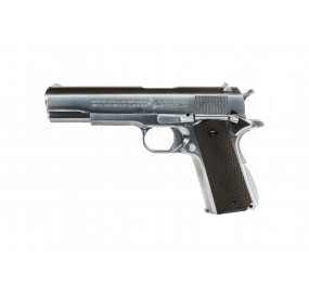 WE Colt 1911 Blowback Fullmetal Gaz Silver