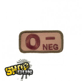 Patch velcro groupe sanguin O- multicam