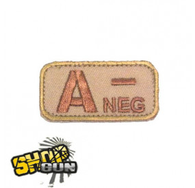Patch velcro groupe sanguin A- Desert