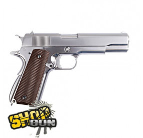M1911 Fullmetal Blowback Gaz Chromé