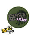 "Patch velcro ""SHOP GUN"" Olive PVC"