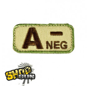 Patch groupe sanguin A- Multicam