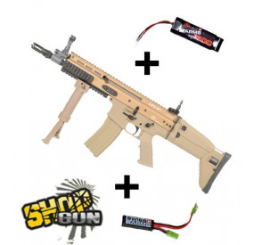 SCAR CQC TAN FULL METAL G&G MOSFET