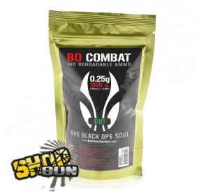 1800 billes 0.25g BO Combat Biodégradable Ammo
