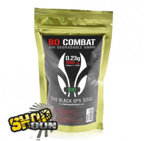 1800 billes 0.23g BO Combat Biodégradable Ammo