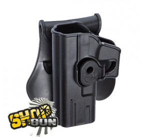 Holster gauche paddle rotation 360° Glock