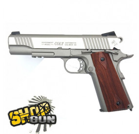 Colt 1911 Rail Gun Fullmetal Blowback Stainless CO²
