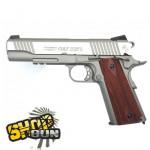 Colt 1911 Rail Gun Fullmetal Blowback Stainless CO²