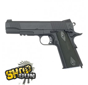 Colt 1911 rail gun blackened Fullmetal Blowback Co²