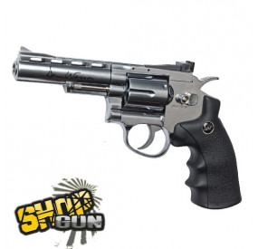 "Dan Wesson 4"" Chrome Full Métal Low Power CO2"