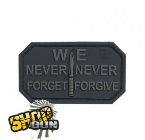 "Patch velcro ""we never forget"" Black OPS"