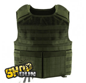 Gilet PMC plate carrier MOLLE vert